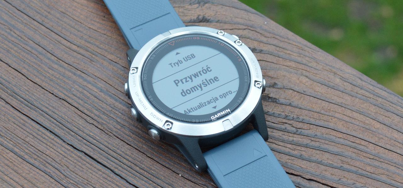Jak wykonać backup w zegarku Garmin Fenix