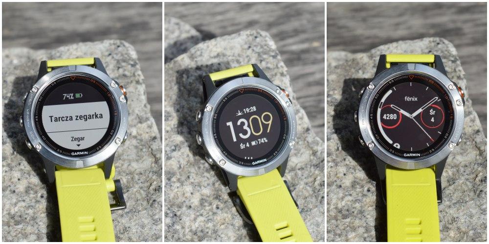 tarcza zegarka garmin fenix 5