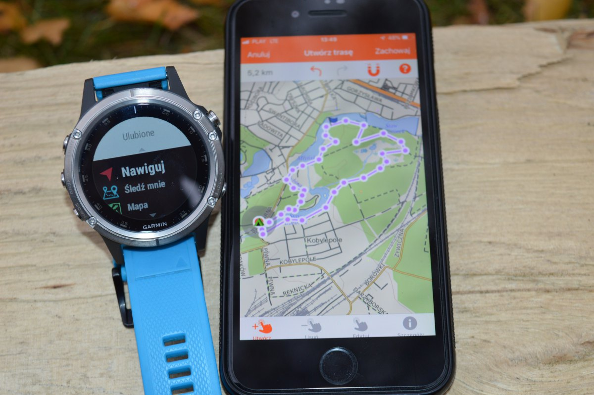 Garmin Explore - aplikacja do planowania tras w zegarku Garmin Fenix