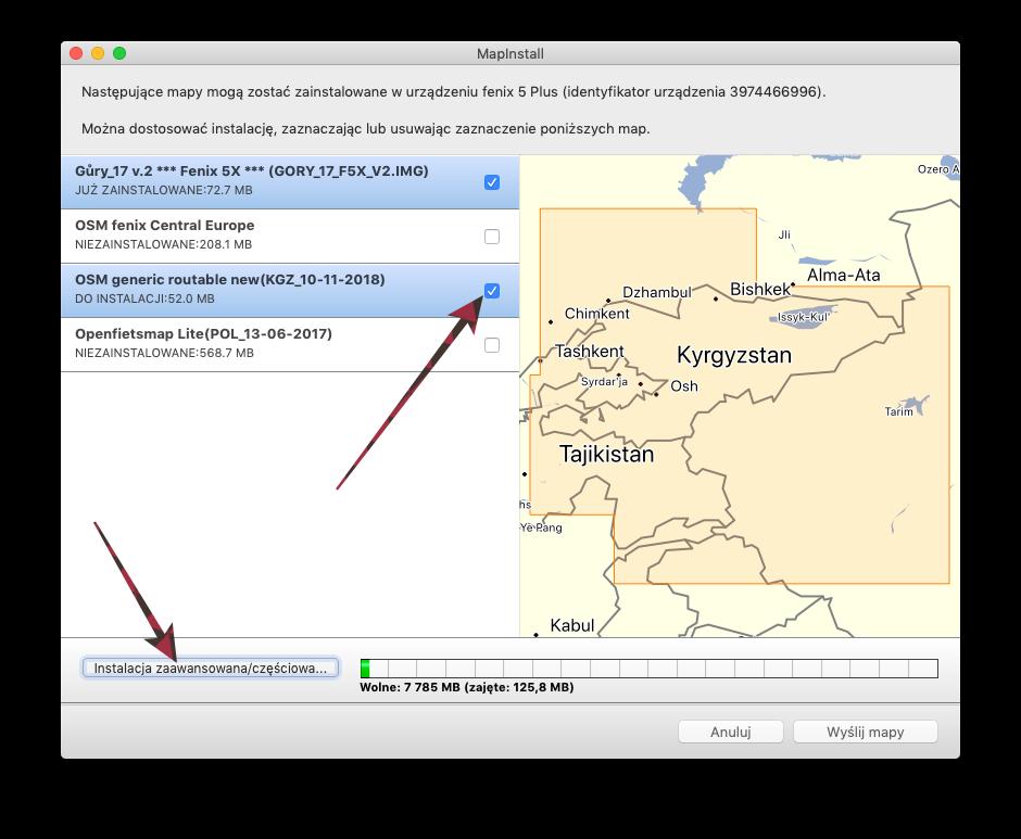 instalacja mapy Garmin Fenix