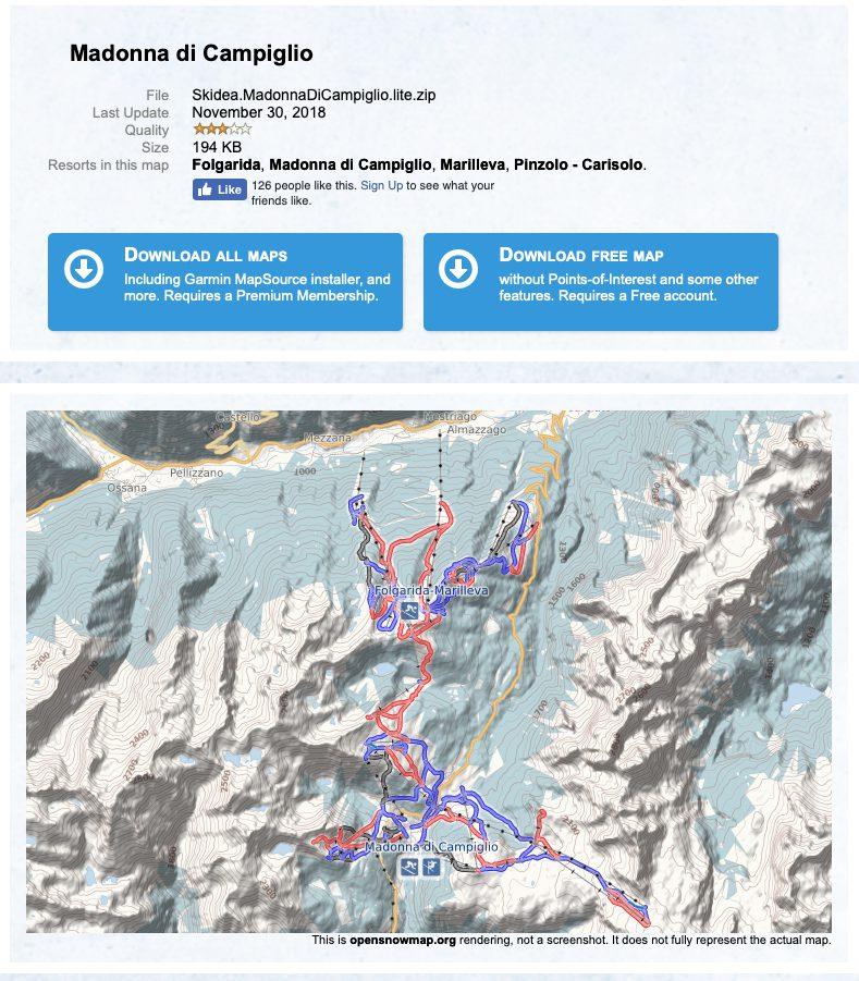 trasy narciarskie Garmin Fenix 5 plus