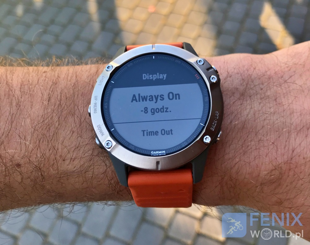 Garmin Fenix 6 display